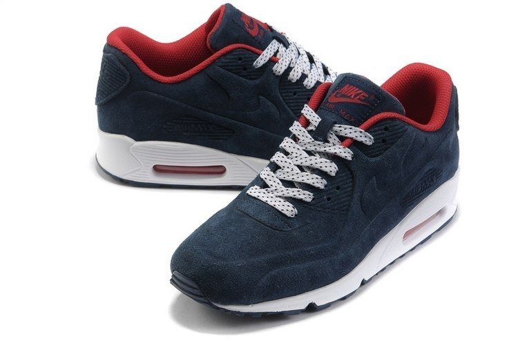 nike air max 90 navy blue and red