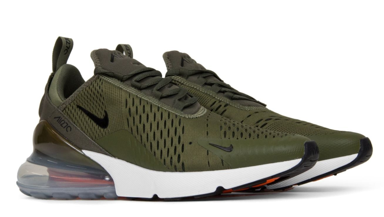 Nike Air Max 270 (Green/White/Orange) (004)