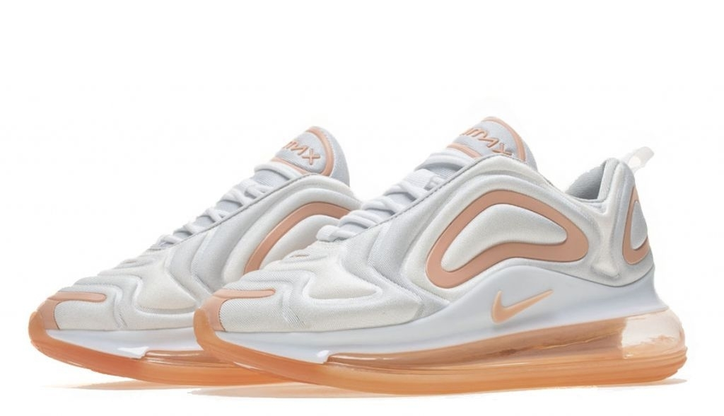 Кроссовки Nike Air Max 720 (White/Peach) (014)