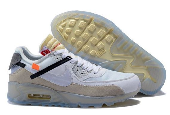 OFF-WHITE x Nike Air Max 90 (White/Beige) (069)