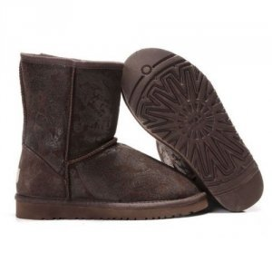 UGG Classic Short Paisley Brown