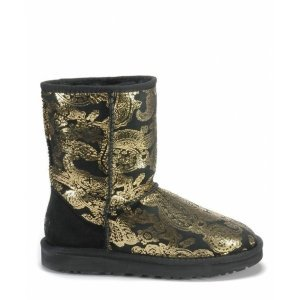 UGG Classic Short Paisley Black/Gold