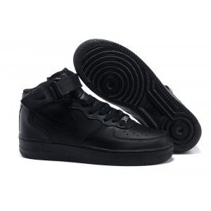 Nike Air Force 1 Mid '07 High Men (all black) - (001)