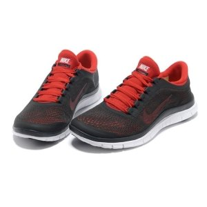 Nike Free Run 3.0 V5 Men (Dark-Charcoal/Chilling-Red/White) - (016)