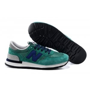 New Balance 990 (Green/Navy) (001)