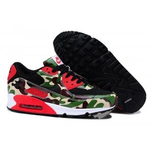 "Nike Air Max 90 Women ""Camo Infrared"" (Green/Black/Red) (040)"