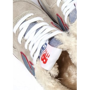 New Balance 574 With Fur (Beige/Blue/Red) (048)