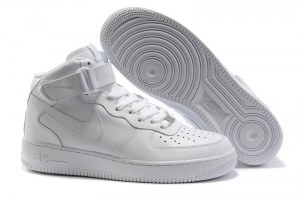 Nike Air Force 1 Mid '07 High Men (all white) - (004)