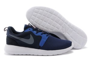 Nike Roshe Run Hyperfuse QS Men (Mid-Navy/Wolf-Grey/Dark-Obsidian) - (010)