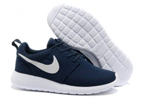 Nike Roshe Run Жен (Dark-Blue/White) (010)