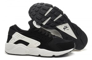 Nike Air Huarache (Triple Black/White Luminous) (005)