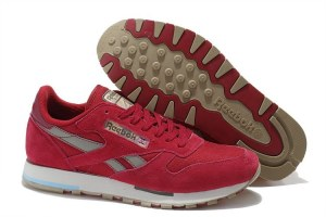 Reebok Classic Leather Utility (Pink/Cement/Canvas) (005)