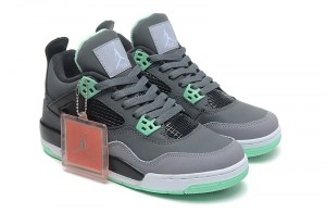 Nike Air Jordan 4 Retro Women (Grey-/Jade/Gris/Jade) (001)