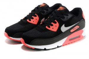 Nike Air Max 90 Essential Women (Black/Woolf Grey/Atomic Red/Anthracite) (037)