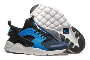 Nike Air Huarache Men (Black/White/Lyon Blue) (009)
