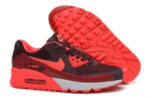 Nike Air Max 90 Жен (Deep Burgundy/Hyper Punch) (049)