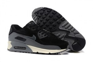 Nike Air Max 90 LTHR Жен (Black/Dark Grey/Sail/Metallic Hematite)
