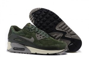 Nike Air Max 90 LTHR Жен (Carbon Green/Metallic Pewter/Sail)