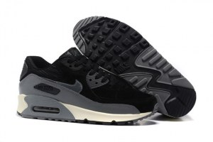 Nike Air Max 90 LTHR Муж (Black/Dark Grey/Sail/Metallic Hematite)