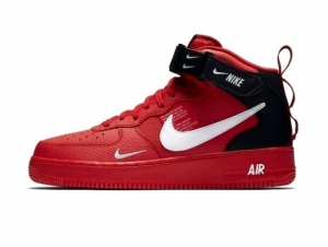 Nike Air Force 1 '07 Mid Utility Red/Black (065)