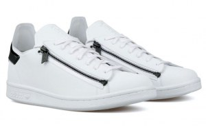 Adidas Y-3 Stan Smith Zip (White/Coral Black) (008)