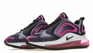 Кроссовки Nike Air Max 720 (Black/Peach) (013)