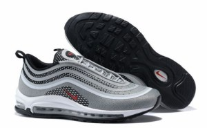 Nike Air Max 97 (Silver/Red/Black/White) (011)