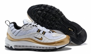 Nike Air Max 98 (Summit White/Metallic Gold) (007)
