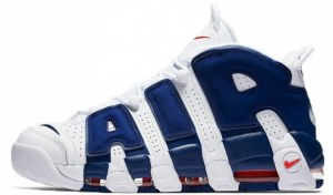 Nike Air More Uptempo (White/Deep Royal Blue) (013)