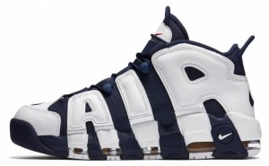 Nike Air More Uptempo (White/Mid night Navy) (015)